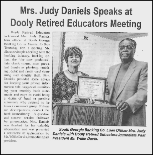 Dooly County News Events South Georgia Banking Company